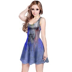 Hazy City Abstract Design Reversible Sleeveless Dresses