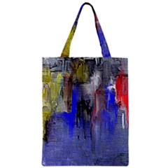 Hazy City Abstract Design Classic Tote Bags