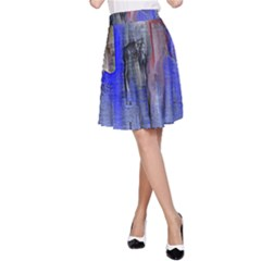 Hazy City Abstract Design A-Line Skirts