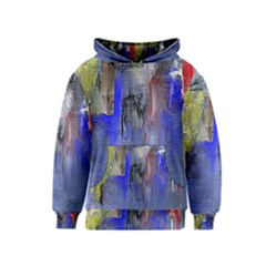 Hazy City Abstract Design Kid s Pullover Hoodies