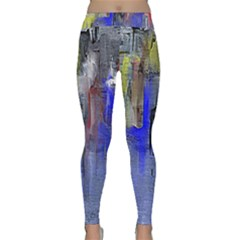 Hazy City Abstract Design Yoga Leggings