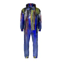 Hazy City Abstract Design Hooded Jumpsuit (kids)