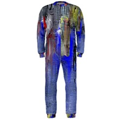 Hazy City Abstract Design OnePiece Jumpsuit (Men)
