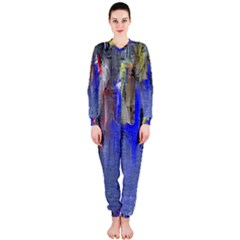 Hazy City Abstract Design OnePiece Jumpsuit (Ladies)