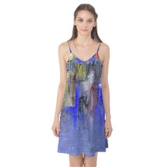 Hazy City Abstract Design Camis Nightgown