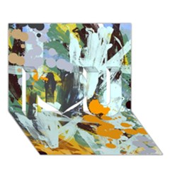 Abstract Country Garden I Love You 3D Greeting Card (7x5)