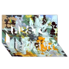 Abstract Country Garden Best Friends 3d Greeting Card (8x4)