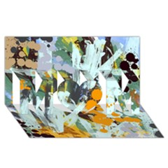 Abstract Country Garden Mom 3d Greeting Card (8x4)