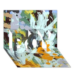 Abstract Country Garden Boy 3d Greeting Card (7x5)