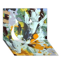 Abstract Country Garden Heart 3d Greeting Card (7x5)