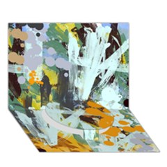 Abstract Country Garden Circle Bottom 3D Greeting Card (7x5)