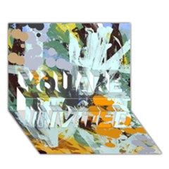 Abstract Country Garden YOU ARE INVITED 3D Greeting Card (7x5)