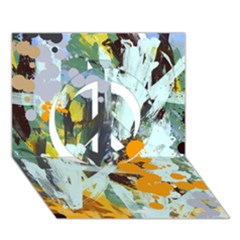 Abstract Country Garden Peace Sign 3D Greeting Card (7x5)