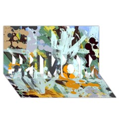 Abstract Country Garden #1 MOM 3D Greeting Cards (8x4)