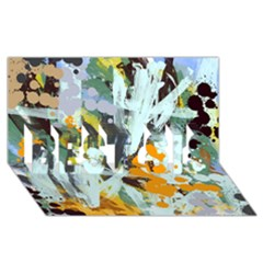 Abstract Country Garden BEST SIS 3D Greeting Card (8x4)