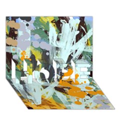 Abstract Country Garden HOPE 3D Greeting Card (7x5)