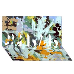 Abstract Country Garden #1 DAD 3D Greeting Card (8x4)