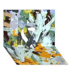 Abstract Country Garden Ribbon 3D Greeting Card (7x5)