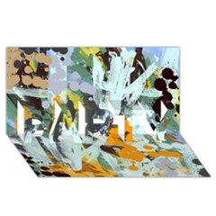 Abstract Country Garden PARTY 3D Greeting Card (8x4)