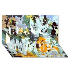 Abstract Country Garden Best Wish 3D Greeting Card (8x4)