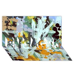 Abstract Country Garden ENGAGED 3D Greeting Card (8x4)