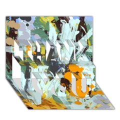 Abstract Country Garden Thank You 3d Greeting Card (7x5)