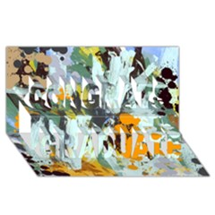Abstract Country Garden Congrats Graduate 3D Greeting Card (8x4)