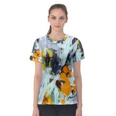 Abstract Country Garden Women s Sport Mesh Tees