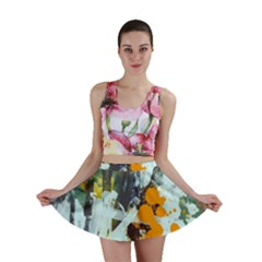 Abstract Country Garden Mini Skirts
