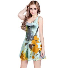 Abstract Country Garden Reversible Sleeveless Dresses