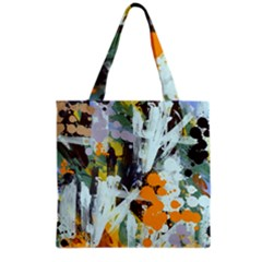 Abstract Country Garden Grocery Tote Bags