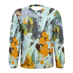 Abstract Country Garden Men s Long Sleeve T-shirts