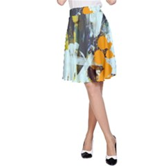 Abstract Country Garden A-Line Skirts
