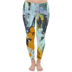 Abstract Country Garden Winter Leggings