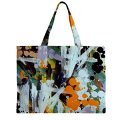 Abstract Country Garden Zipper Tiny Tote Bags