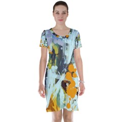 Abstract Country Garden Short Sleeve Nightdresses