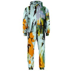 Abstract Country Garden Hooded Jumpsuit (Men)
