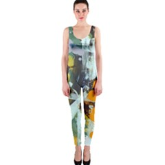 Abstract Country Garden OnePiece Catsuits