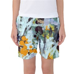 Abstract Country Garden Women s Basketball Shorts