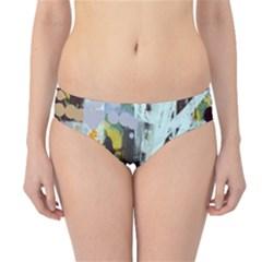 Abstract Country Garden Hipster Bikini Bottoms