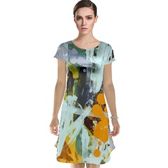 Abstract Country Garden Cap Sleeve Nightdresses
