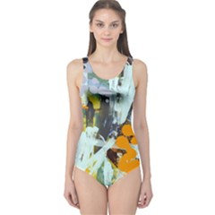 Abstract Country Garden Women s One Piece Swimsuits