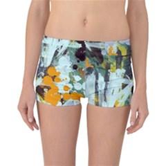 Abstract Country Garden Reversible Boyleg Bikini Bottoms