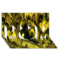Fractal Marbled 15 MOM 3D Greeting Card (8x4)