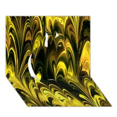 Fractal Marbled 15 Apple 3D Greeting Card (7x5)