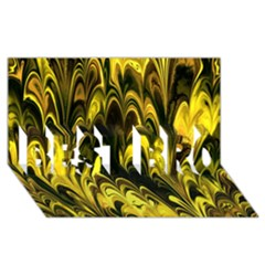 Fractal Marbled 15 BEST BRO 3D Greeting Card (8x4)