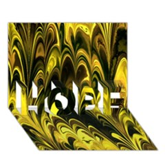 Fractal Marbled 15 HOPE 3D Greeting Card (7x5)