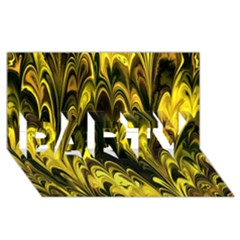 Fractal Marbled 15 PARTY 3D Greeting Card (8x4)