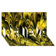 Fractal Marbled 15 Believe 3d Greeting Card (8x4)