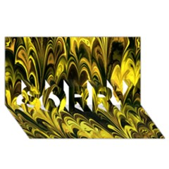 Fractal Marbled 15 Sorry 3d Greeting Card (8x4)